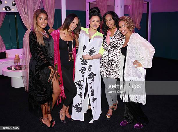 Elaina Watley Alexis Stoudemire Emily B Terricka Cromartie and Amber Sabathia host Ladies Night In Benefiting Not For Sale on April 17 2014 in Alpine...