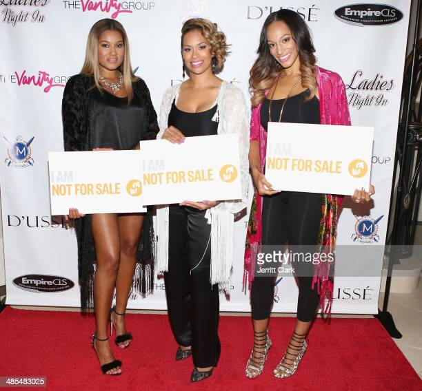 Elaina Watley Amber Sabathia and Alexis Stoudemire host Ladies Night In Benefiting Not For Sale on April 17 2014 in Alpine New Jersey