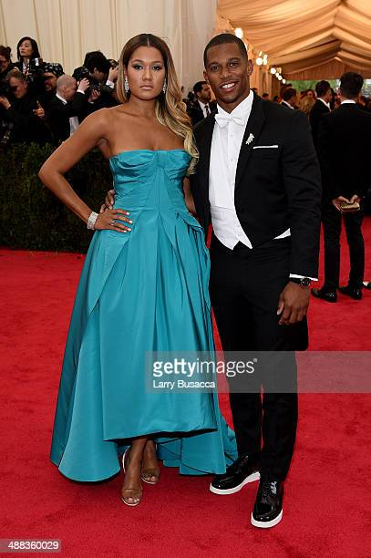 Elaina Watley and NFL player Victor Cruz attend the Charles James Beyond Fashion Costume Institute Gala at the Metropolitan Museum of Art on May 5...