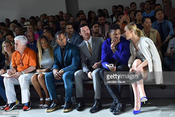 Elaina Watley Victor Cruz Luke Evans Nick Young and Iggy Azalea attend Calvin Klein Collection during Milan Fashion Week Menswear Spring/Summer 2015...