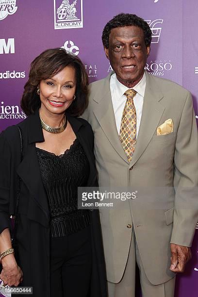 Elaine Baylor and Elgin Baylor arrives at the Kareem AbdulJabbar Celebrity Roast Hosted By George Lopez at JW Marriott Los Angeles at LA LIVE on...