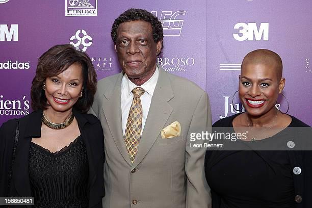 Elaine Baylor Elgin Baylor and Krys Baylor arrive at the Kareem AbdulJabbar Celebrity Roast Hosted By George Lopez at JW Marriott Los Angeles at LA...