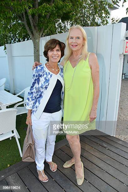 Elaine Bernanke and Cornelia Sharpe Bregman attend NYC Mission Society Cocktails and Conversations in Southampton at OREYA Hamptons on August 25 2016...