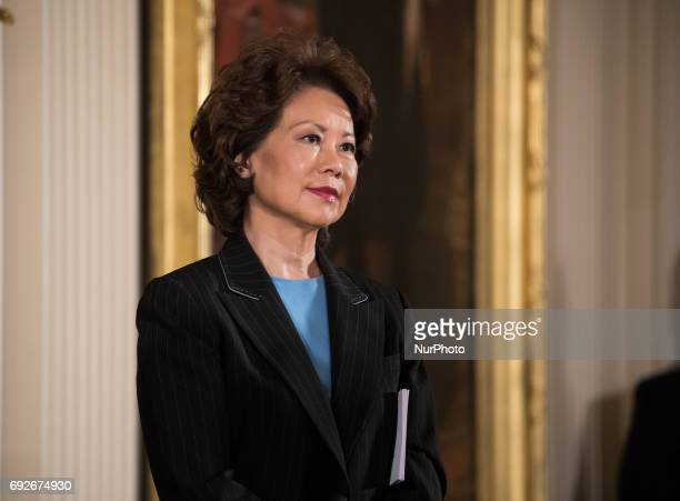 Elaine Chao Secretary of the Department of Transportation attended President Donald Trump's event announcing the Air Traffic Control Reform...
