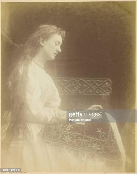 Elaine, circa 1874. A work made of albumen print. Artist Julia Margaret Cameron.