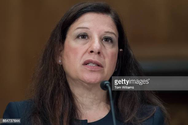 Elaine Duke Acting Secretary of the Department of Homeland Security testifies during a Senate Homeland Security and Governmental Affairs Committee...