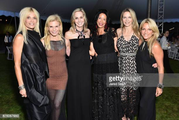 Elaine Feldman Caroline Dean Kim HairstonEvans Kara Hardin and Deborah Sir attend The 24th Annual Watermill Center Summer Benefit Auction at The...