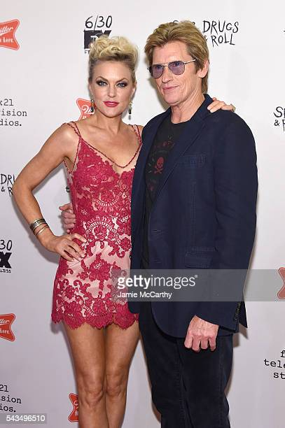 "Elaine Hendrix and Denis Leary attend the ""Sex&Drugs&Rock&Roll"" Season 2 Premiere at AMC Loews 34th Street 14 theater on June 28, 2016 in New York..."