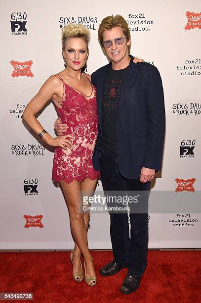 Elaine Hendrix and Denis Leary attend the SexDrugsRockRoll Season 2 Premiere at AMC Loews 34th Street 14 theater on June 28 2016 in New York City
