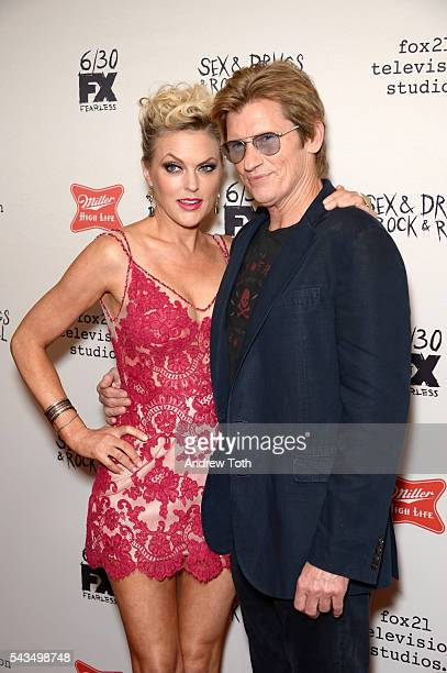 """Elaine Hendrix and Denis Leary attend the """"Sex&Drugs&Rock&Roll"""" Season 2 Premiere at AMC Loews 34th Street 14 theater on June 28, 2016 in New York..."""