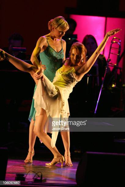 Elaine Hendrix and Lea Thompson during What a Pair 4! - Show at Wiltern/LG Theatre in Los Angeles, CA, United States.