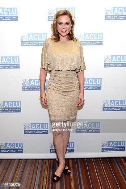 Elaine Hendrix attends the ACLU of Southern California's 2012 Bill of Rights Dinner at the Beverly Wilshire Four Seasons Hotel on December 3, 2012 in...