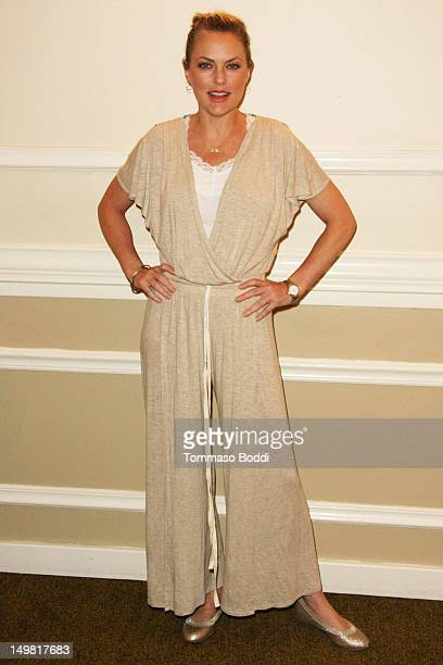 Elaine Hendrix attends the Hooray for HollyWOOF fundraiser benefiting Dogs for The Deaf and Generation Rescue held at the Sportsmen's Lodge on August...