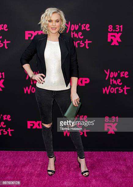 Elaine Hendrix attends the premiere of FXX's 'You're The Worst' season 3 on August 28, 2016 in Los Angeles, California.