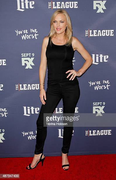 Elaine Hendrix attends the premiere of 'The League' and 'You're The Worst' at Regency Bruin Theater on September 8, 2015 in Westwood, California.