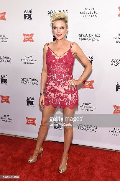 "Elaine Hendrix attends the ""Sex&Drugs&Rock&Roll"" Season 2 Premiere at AMC Loews 34th Street 14 theater on June 28, 2016 in New York City."
