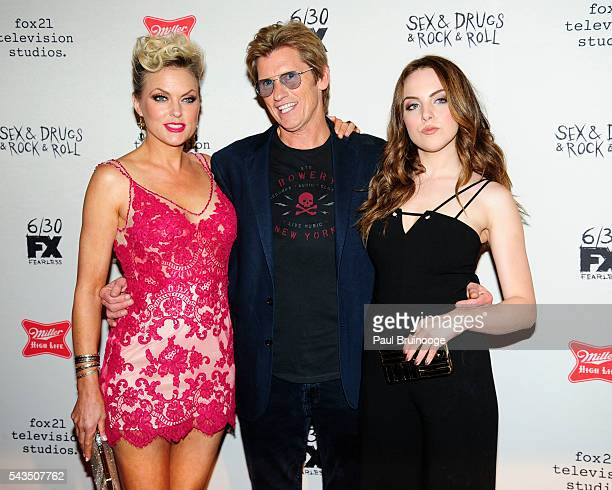 Elaine Hendrix Dennis Leary and Elizabeth Gillies attend the Red Carpet Premiere of FX's SexDrugsRockRoll Season 2 at AMC Loews 34th Street 14...