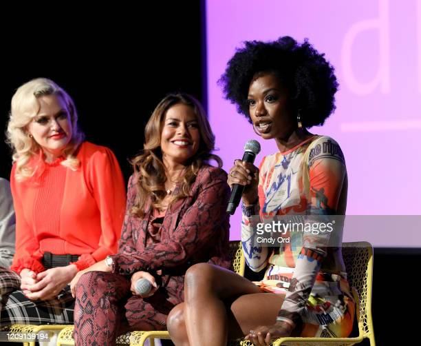 Elaine Hendrix, Lisa Vidal and Xosha Roquemore attend SCAD aTVfest 2020 - Wonder Women: Acting For Television Presented By Entertainment Weekly press...