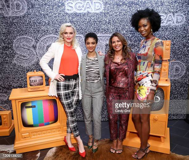 Elaine Hendrix, Tiffany Boone, Lisa Vidal and Xosha Roquemore attend SCAD aTVfest 2020 - Wonder Women: Acting For Television Presented By...