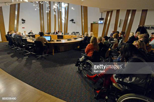Elaine Holmes and Olive McIlroy of Scottish Mesh Survivors group give evidence on their experience of transvaginal mesh implants to the Scottish...