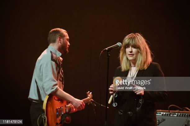 Elaine Howley from The Altered Hours opens for Fontaines DC at Le Bataclan on November 10, 2019 in Paris, France.