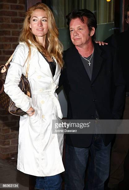 Elaine Irwin Mellencamp and John Mellencamp attend the New York screening of Kate Hudson's Glamour Reel Moments short film 'Cutlass' hosted by...