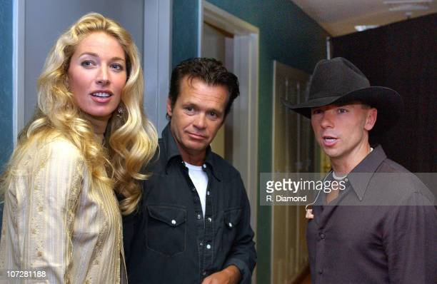 Elaine Irwin Mellencamp John Mellencamp and Kenny Chesney backstage at the CMT CROSSROADS taping on August 6 in Nashville before Mellencamp and...