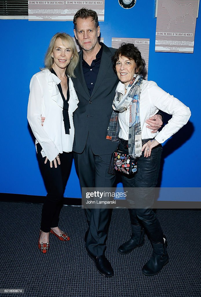 Elaine Joyce, Al Corley and Marty Kaplan attend 'Phalaris's Bull: Solving The Riddle Of The Great Big World' opening night at Beckett Theatre on December 17, 2015 in New York City.