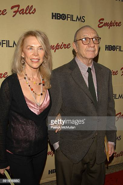 Elaine Joyce and Neil Simon attend Empire Falls HBO Films New York Premiere Arrivals at Metropolitan Museum of Art NYC USA on May 9 2005