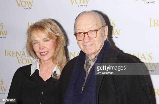 Elaine Joyce and Neil Simon attend the opening night of Irena's Vow on Broadway at the Walter Kerr Theatre on March 29 2009 in New York City