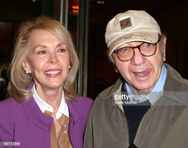 Elaine Joyce and Neil Simon attend the Opening Night Performance of The Winslow Boy at American Airlines Theatre on October 17 2013 in New York City