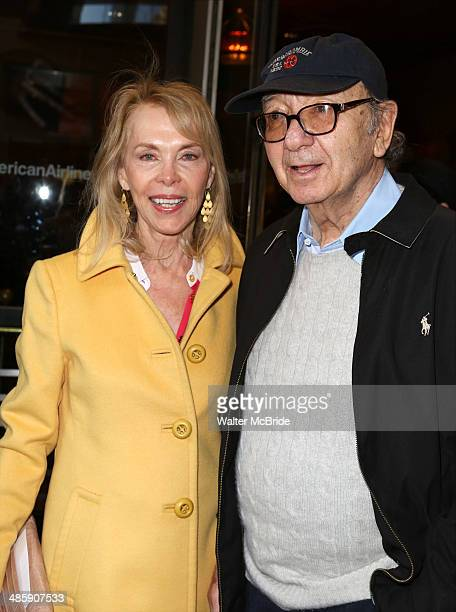 Elaine Joyce and Neil Simon attend the Violet Opening Night at American Airlines Theatre on April 20 2014 in New York City