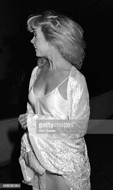 Elaine Joyce attends the party for 33rd Annual Primetime Emmy Awards on September 13 1981 at the Bonaventure Hotel in Los Angeles California
