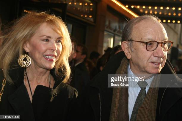 Elaine Joyce Simon and Neil Simon during A Moon for the Misbegotten Broadway Opening Arrivals at The Brooks Atkinson Theatre in New York City New...