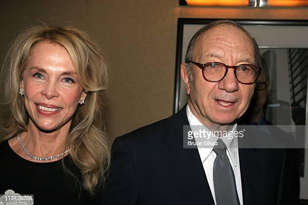 Elaine Joyce Simon and Neil Simon during Neil Simon's The Odd Couple Broadway Opening Night at The Marriott Marquis Ballroom in New York City New...