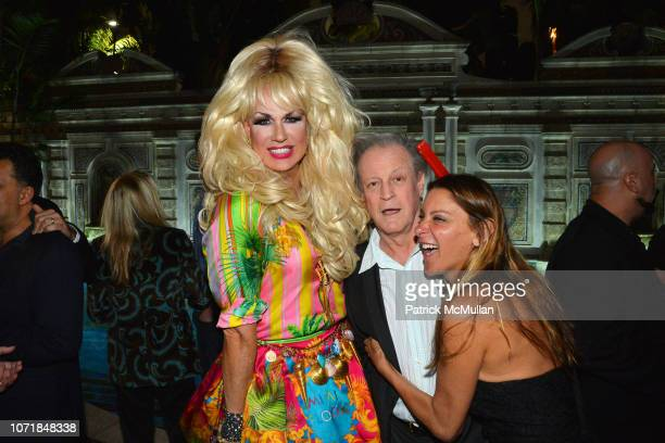 Elaine Lancaster Patrick McMullan and Dori Coopermann attend What Goes Around Comes Around 25th Anniversary Celebration At The Versace Mansion With A...