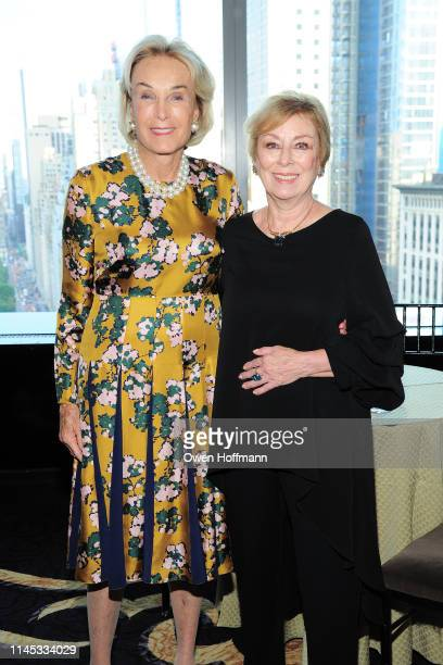 Elaine Langone and Maria Aufiero attend BCNY Annual Awards Dinner at Mandarin Oriental on May 20 2019 in New York City