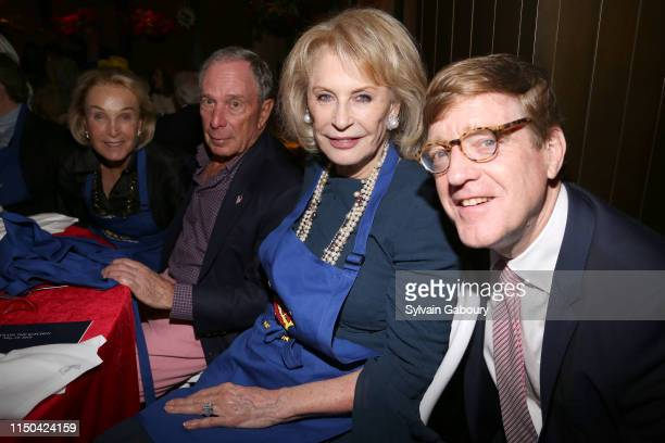 Elaine Langone Michael Bloomberg Lauren Veronis and Paul Shiverick attend Cancer Research Institute Through The Kitchen Party at Seagram Building on...