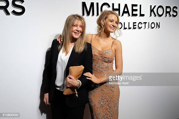 Elaine Lively and Actress Blake Lively pose backstage at the Michael Kors Fall 2016 Runway Show during New York Fashion Week The Shows at Spring...