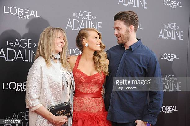 Elaine Lively Blake Lively and Eric Lively attend The Age of Adaline premiere at AMC Loews Lincoln Square 13 theater on April 19 2015 in New York City