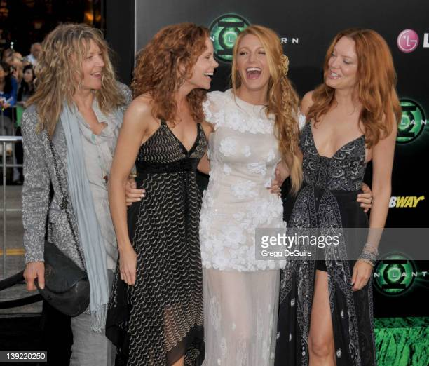 Elaine Lively Robyn Lively Blake Lively and Lori Lively arrive for the Los Angeles World Premiere of Green Lantern at the Grauman's Chinese Theatre...