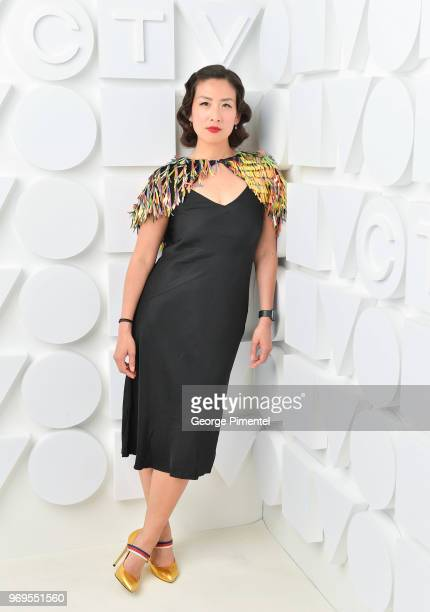 Elaine Lui poses at the CTV Upfronts portrait studio held at the Sony Centre For Performing Arts on June 7 2018 in Toronto Canada