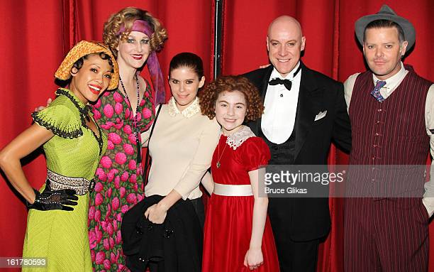 J Elaine Marcos as 'Lilly' Katie Finneran as 'Miss Hannigan' Kate Mara Lilla Crawford as 'Annie' Anthony Warlow as 'Daddy Warbucks' and Clarke...