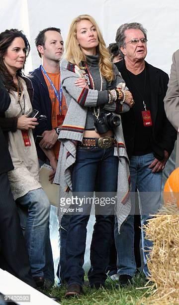 Elaine Mellencamp attends the press conference for Farm Aid 2009 at the Verizon Wireless Amphitheater on October 4 2009 in St Louis Missouri