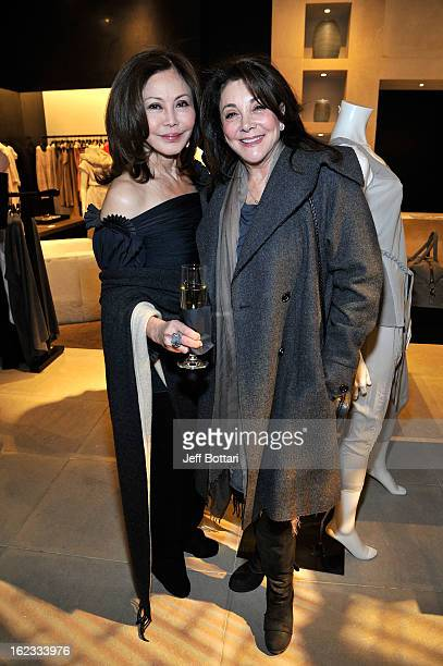 Elaine Newton and Lovee Arum attend a shopping event hosted by Donna Karan New York and Vogue Magazine in support of Communities In Schools Nevada at...