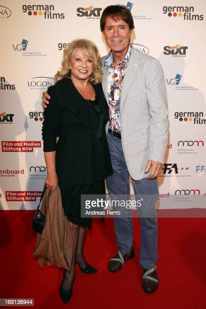 Elaine Paige and Cliff Richard attend the German Films reception during the 66th Annual Cannes Film Festival at the Majestic Beach on May 20 2013 in...