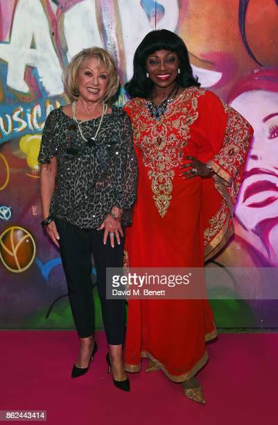 Elaine Paige and Patti Boulaye attend the 50th anniversary production of 'Hair The Musical' at The Vaults on October 17 2017 in London England