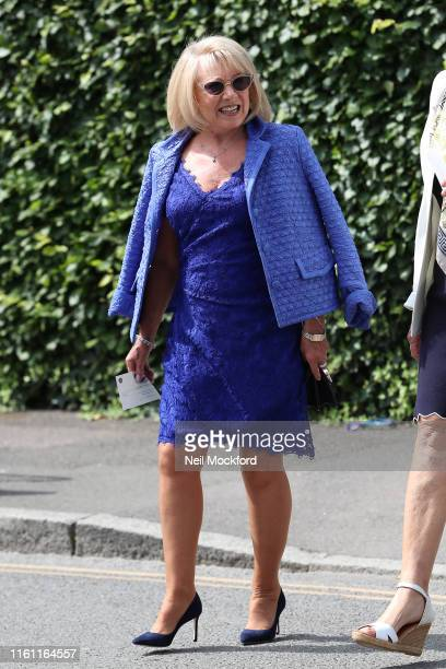 Elaine Paige attends day 9 of the Wimbledon 2019 Tennis Championships at All England Lawn Tennis and Croquet Club on July 10 2019 in London England