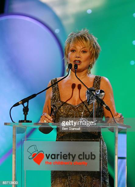 Elaine Paige speaks before presenting the 'Classical Performance of the Year Award' to Hayley Westernra during the 56th annual Variety Club Showbiz...