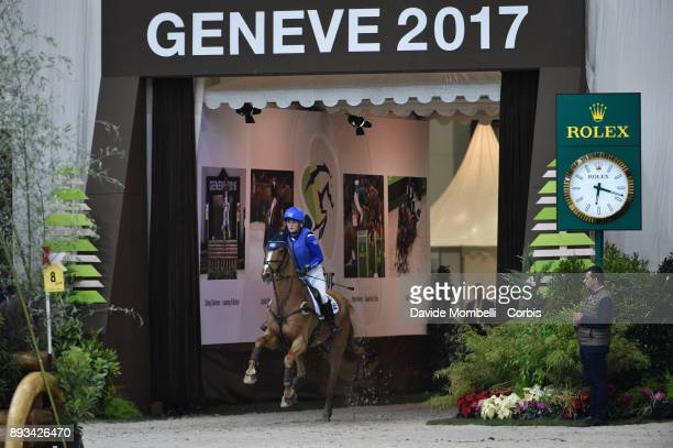 Elaine Pen of Netherlands riding Undercover during the Cross Indoor sponsored by Tribune de Genève Rolex Grand Slam Geneva 2017